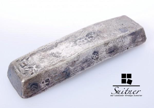 Chinesischer Silberbarren des 19. Jahrhunderts mit Guangxu-Marke