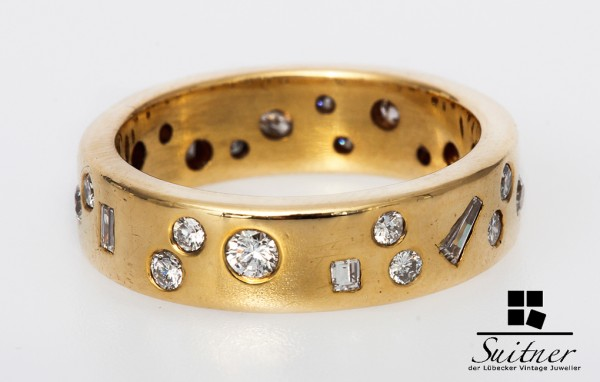 Ring Brillanten Diamanten Sternenhimmel Ring 585 Gold zus. ca. 0,40 ct.