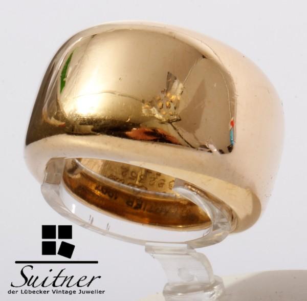 großer Cartier Ring aus 750 Gold Gr. 53 breit XL Design