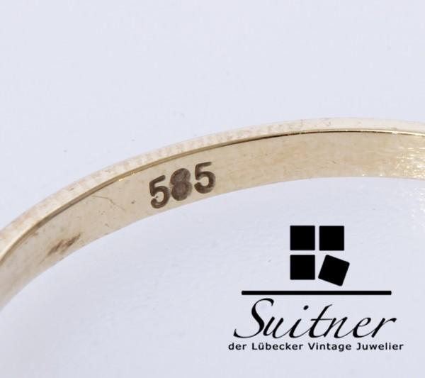 klassischer Verlobungsring Vorsteckring Brillant Ring 585 Gold Gr. 54