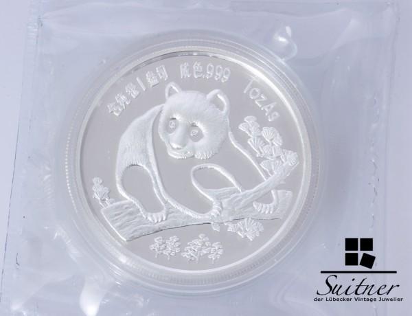 China Panda 1994 1Oz Silber Coin Show München Yuan Silver Unze selten