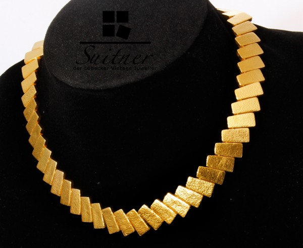 ZOLOTAS Collier Griechenland 22kt Gold Hand gehämmert NP 29.000€ Necklace
