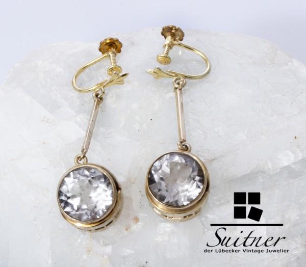 Paar Modernist Ohrhänger von Kaunis Koru - 925 Silber Finnland 1973 - selten