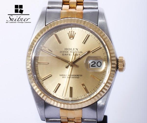 Rolex Datejust Mod. 16013 Stahl/Gold 36 mm Zertifikat