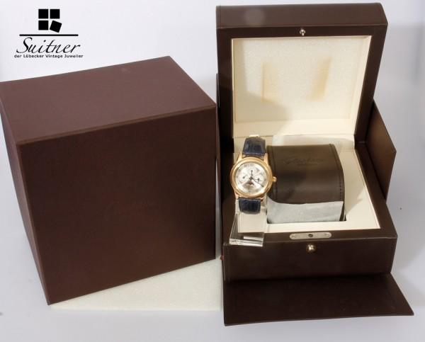 Glashütte Original 1845 Kalender mit Mondphase in 750 Gold Rotgold Luxus Uhr