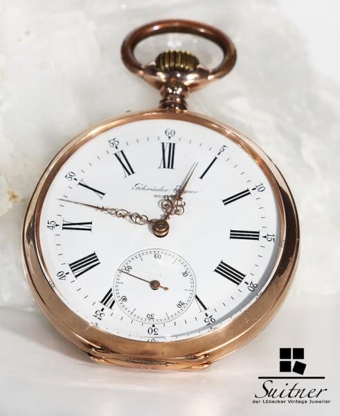 Antike Taschenuhr Gebrüder Eppner Berlin 585 Gold Wappen Adel Hochadel