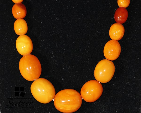 Art Deco Butterscotch Kette real Amber Prayer Beads Oliven beste Farbe