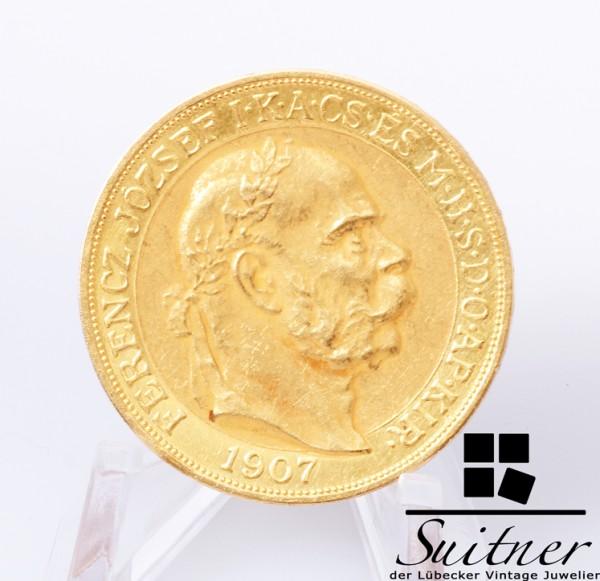 100 Korona Gold Franz Josef Krönungsjubiläum 1907