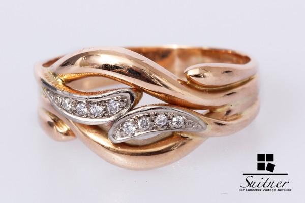 Brillant Ring ca. 0,08 ct 585 Rosé Gold Gr. 66