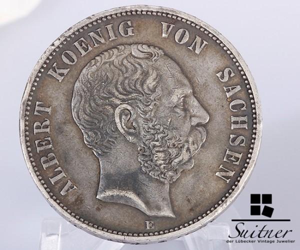 5 Mark Albert von Sachsen 1876 E Silber