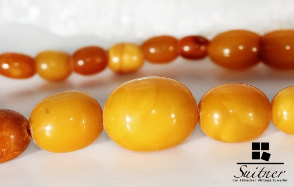 Art Deco Bernstein Butterscotch Kette real Amber Prayer Beads