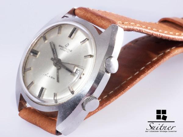 Prototyp Vintage Breitling Memovox Alarm sehr selten Rar Stahl
