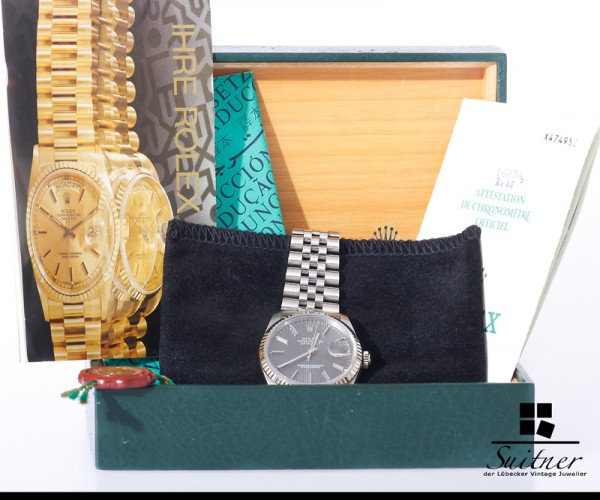 Rolex Datejust 16234 Tapestry NOS Full Set