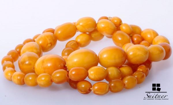 XL Butterscotch Kette Oliven 84,7 gr. Endloskette Prayer Beads Honey Amber