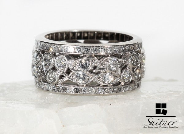 Platin Ring Brillanten Diamanten zus. ca. 2,30 ct.