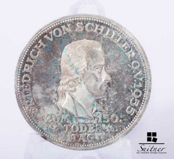 5 DM Friedrich von Schiller 1955 Prägestätte F / SS