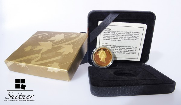 200 Dollars Gold Münze Canada Stempelglanz PP