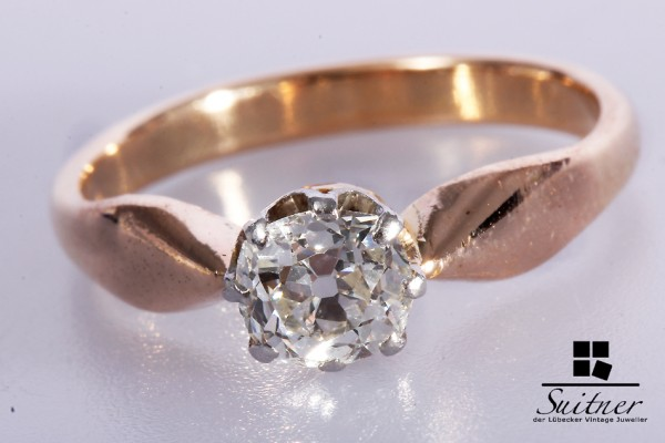 Diamant Ring mit ca. 0,60 ct 585 Roségold Gr. 57