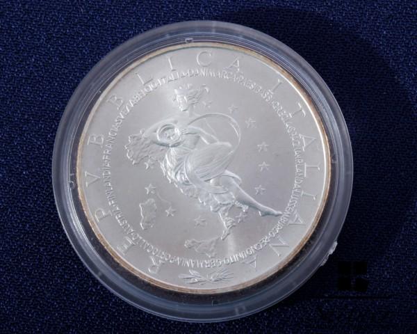 Italien 10 Euro Münze 925 Silber 2003 - Präsidentschaft Erweiterung EU