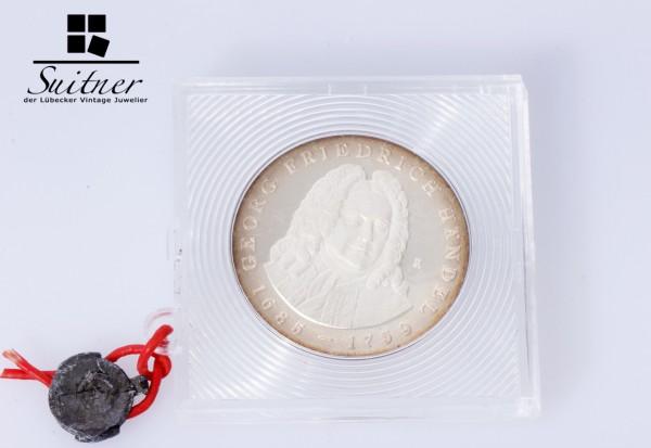 selten 20 Mark DDR Händel 1984 Silber PP verplombt