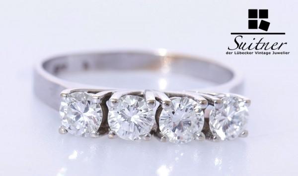 wertvoller 1,00ct. Brillant G VSI Weißgold Ring 585 Gold Gr. 54 Wert 1900,-