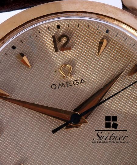 Vintage Omega 750 Gold Honey Comb Dial Kal. 283 Ultra selten