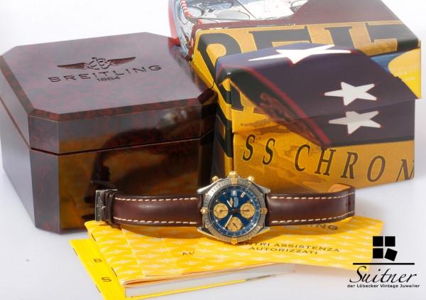 Breitling Chronomat GT Stahl Gold B13352 Full Set Box Papiere