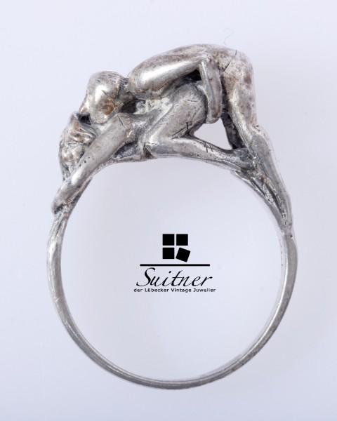 Erotischer Ring aus 925er Silber, Liebesakt, Kuriosität