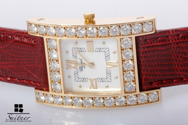Chopard Your Hour Luxus Uhr mit 34 Brillanten 3ct. - Perlmutt 750 Gold Diamanten