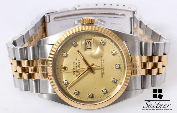 Rolex Datejust 16013 mit Diamanten Zifferblatt Factory mit Papieren