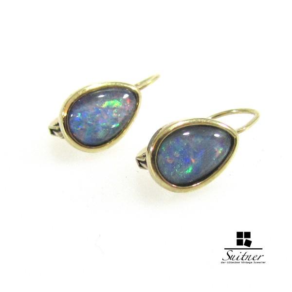 Opal - Triplette Ohrhänger 375er Gold