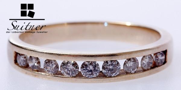 Brillant Ring 585 Gelbgold zus. ca. 0,50 ct Gr. 59