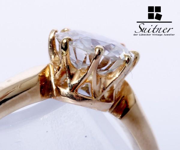 wertvoller Klassiker 1,15ct. Diamant Ring 585 Gold Gr. 57 Wert 6.500,- Euro