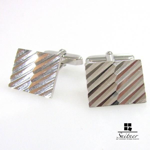 Manschettenknöpfe Silber rhodiniert 835 cufflinks
