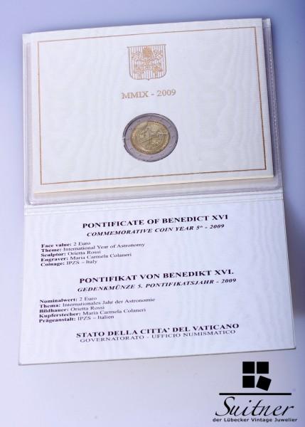 Vatikan 2,- Euro 2009 R Originalverpackung Blister Vatican selten