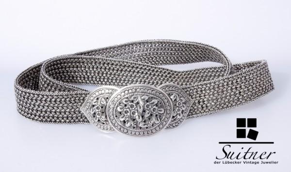 antiker Hochzeitsgürtel aus 925 Silber Gürtel 85cm 350 Gramm XL