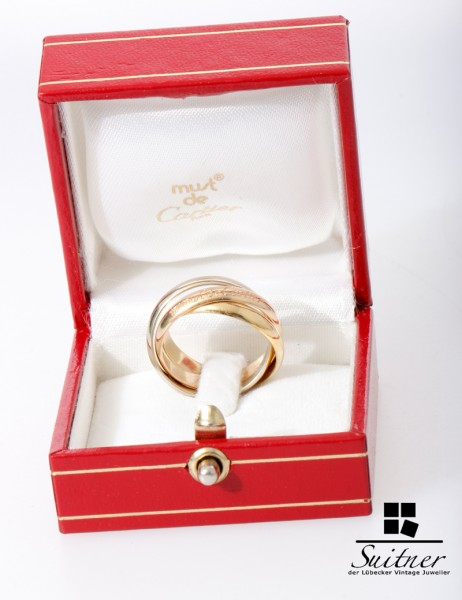 Cartier Trinity Ring mit Box 750 Gold Gr. 55 Luxus Klassiker