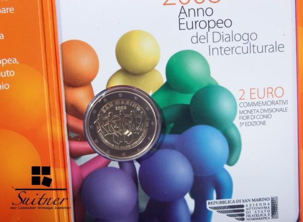 2 Euro San Marino € 2008 R Interkulturelles Jahr in Originalverpackung