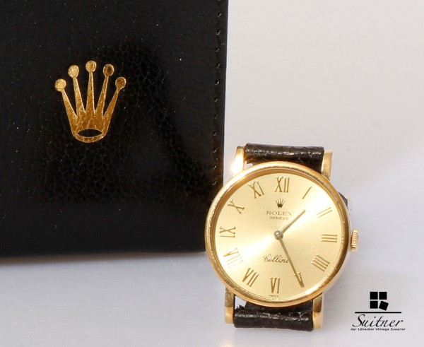 Rolex Cellini 750 Gold 5109 mit Box und Papiere Damen Medium Cal 1602