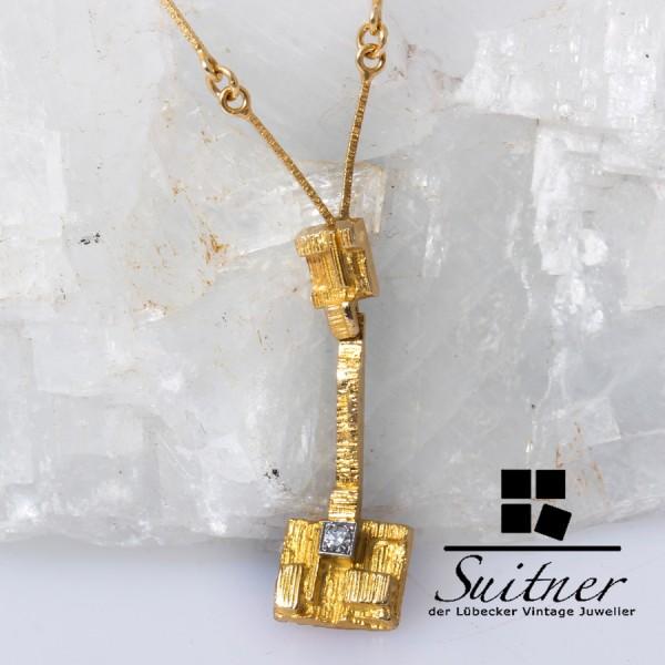 Lapponia Kette Collier Thai Diamant Weckström 750 Gold