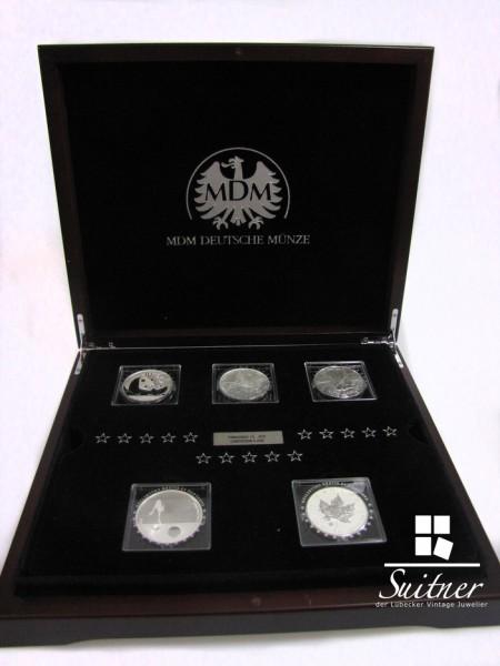 Fabulous 15 Collection Berühmte Silbermünzen der Welt Sammlung Schatulle Zertifikat limitiert