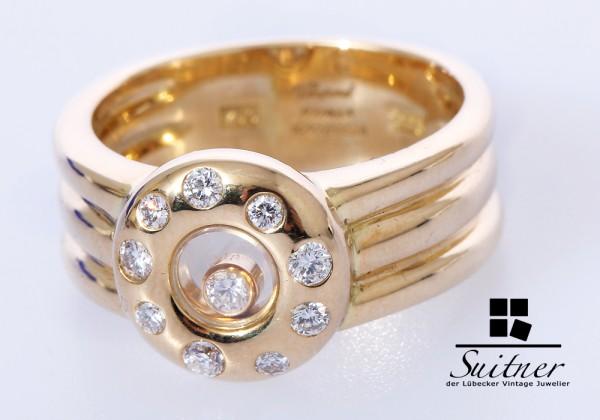 Chopard Happy Diamonds Ring Brillanten 750 Gold Gr. 54 mit Papieren