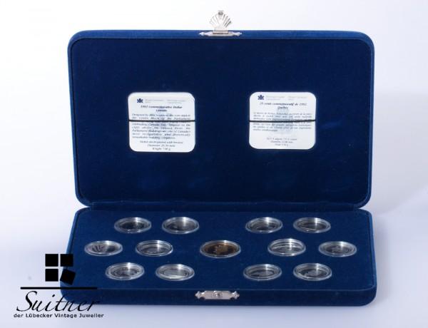 Canada 1992 Silber Nickel alle Münzen PP Original Zertifikat und Schatulle