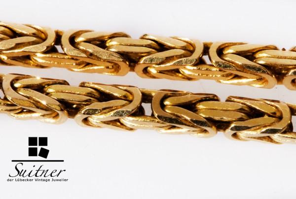 moderne Königskette aus massiv 585 Gold Handarbeit Kette Collier King Design