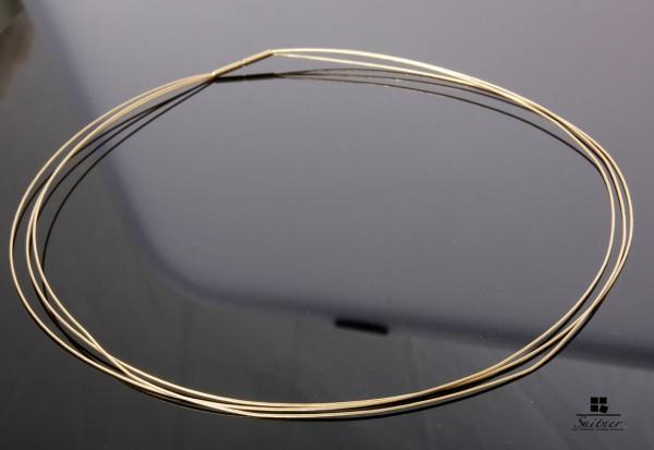 Omega Kette 585 Gold 3 - Fach Reif Dreifach Drahtkette Collier