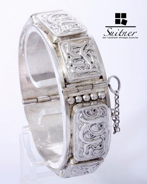 antiker Silber-Armreif, wohl Persien, Anfang 20. Jahrhundert 950 Silber