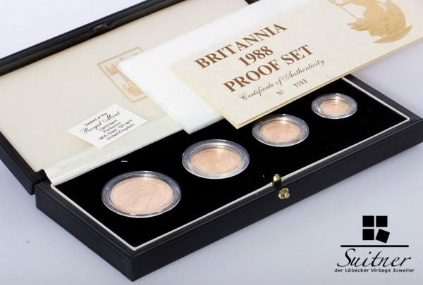 Britannia Proof Set 1988 - 1,85 Unzen Gold extrem selten OVP Collection