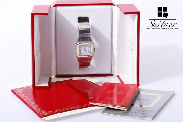 Cartier Santos automatik Herren Uhr Stahl/Gold 29 mm Full Set Box Zertifikat
