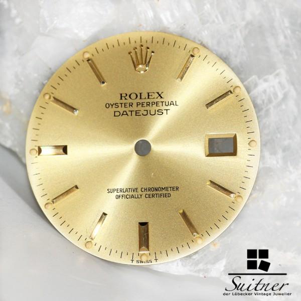 Rolex Ziffernblatt Gold Champagner Dial Datejust Swiss T