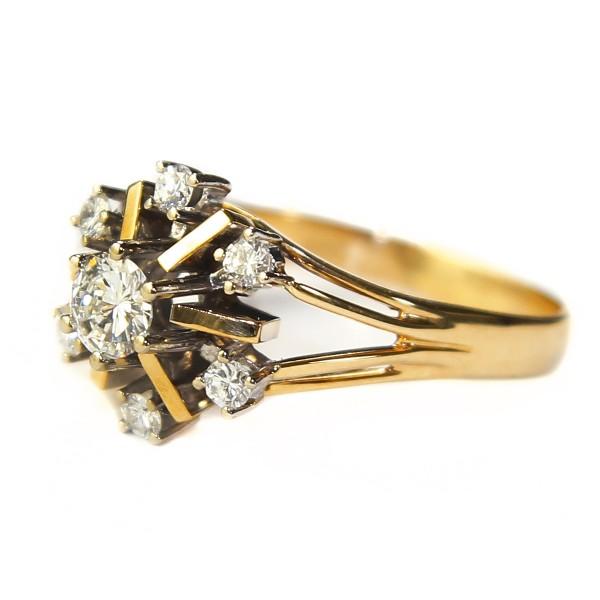 wertvoller Brillant Ring aus Gold Gr 63 VSI Top Wesselton Gutachten 3700,-